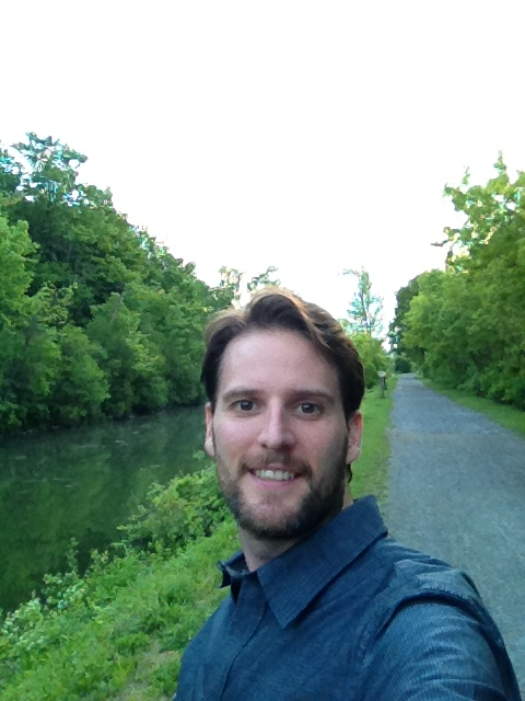 Evening walk along the Erie Canal