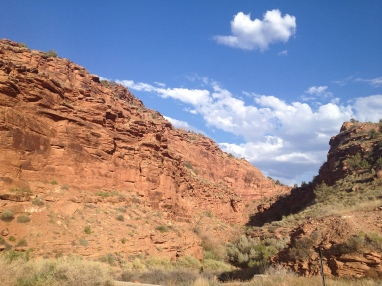 Entering the land of canyons