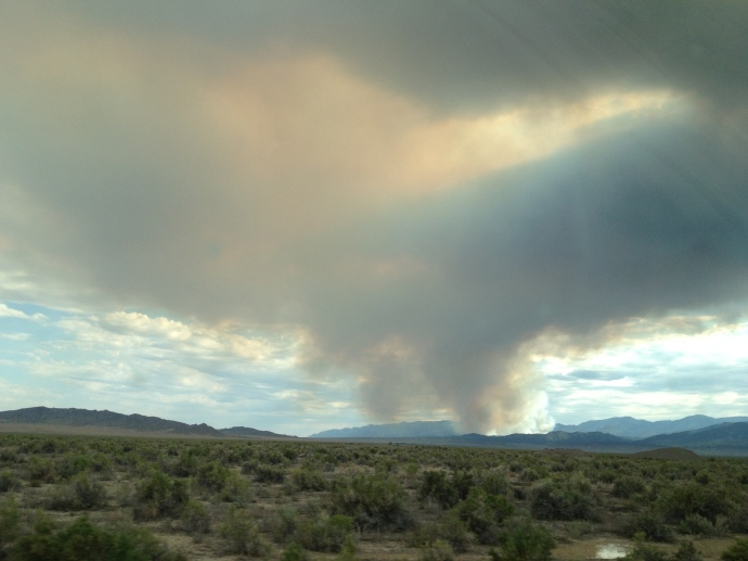 Nevada wildfires... it's begning to feel like home!!