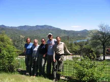 Student Conservation Association crew, enjoying their six-week adventure removing invasive plants at Whiskeytown